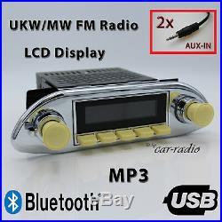 Retrosound Hermosa Komplett Porsche 356 Oldtimer Radio MP3 Bluetooth 311IV080068