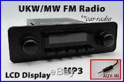 Retrosound Laguna Komplettset Black Optik 1-DIN Oldtimer Radio AUX-IN MP3 RC900