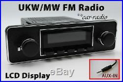Retrosound Laguna TRIM-B 1-DIN Oldtimer Radio AUX-IN MP3 Komplettset L502B080040