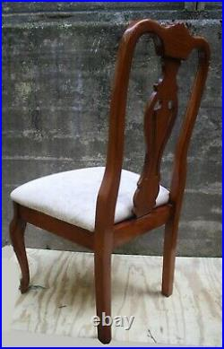 Set 4 Vintage Old Chippendale Style SOLID Wood Wooden Dining Side Chair Armchair