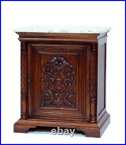 Sink Chest Vanity French Style With Antique 100 Year Old Carved Door