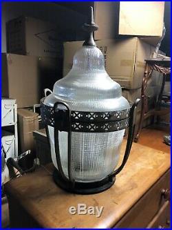 Street Light Head. Vintage Holophane Glass Old Style Street. Jacksonville Fl