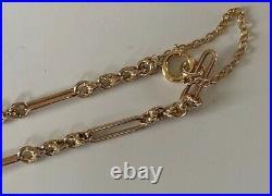 Superb Old Vintage Fancy Albert Style Link Solid 9ct Gold Bracelet