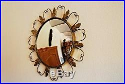 T1 Miroir circulaire vintage 1960 old circle mirror style de sorcière