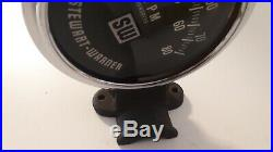 Tachometer Stewart Warner 8000 RPM Tach Vintage Steering column mount style SW