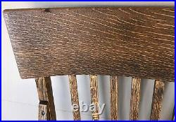 Tiger Oak Bench, 66 Vintage Bank/Lawyer Lobby Bench Old Mission Style Furniture