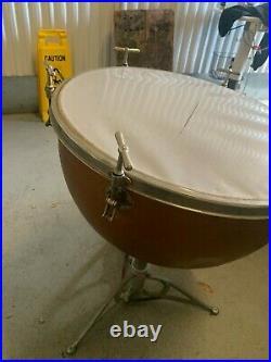 Timpani brass body & Stand Old Vintage style