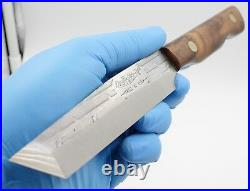 USA Made American Tanto Style Walnut Handle Vintage Old Hickory Ontario Knife
