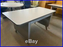 VINTAGE/OLD STYLE TANK TABLE/DESK by ALLSTEEL OFFICE FURNITURE