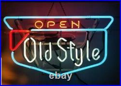 (VTG) 1950s Old style beer shield logo neon light up bar advertising sign rare