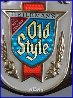 (VTG) 1977 Old style beer motion moving color changing sparkling light up sign