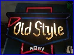 (VTG) 1978 old style beer back bar plastic neon looking light up sign chicago