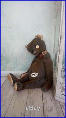 Very old bear Retro style Vintage teddy bear Stuffed bear Vintage toy