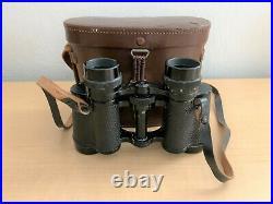 Vintage 1920's CARL ZEISS JENA DELTRINTEM Binoculars 8x30 + Old Style Case