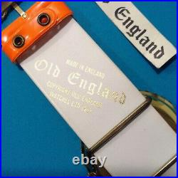 Vintage 1967 Old England mechanical watch. Orange. Swinging London style