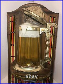 Vintage 1976 Heilemans Old Style Bubbler Bubbling Beer Stein Light Motion Sign