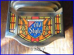 Vintage 1976 Old Style Beer Motion Bubbler German Stein Mug Light Bar Sign