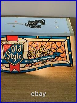 Vintage 1980 Old Style Beer Light Pool Table Light