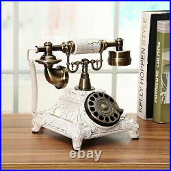 Vintage Antique European Style Old Fashioned Rotary Dial Phone Handset