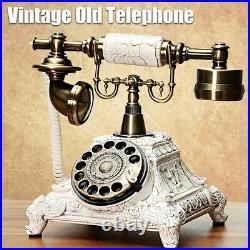 Vintage Antique European Style Old Fashioned Rotary Dial Phone Handset Telephone