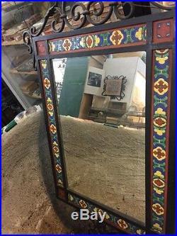 Vintage Antique Old Malibu Tile 1920S Mirror Batchelder Catalina Style
