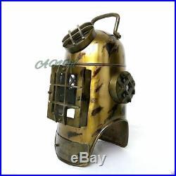 Vintage Antique Replica Diver Helmet Old Nautical Diving Scuba Handmade Style