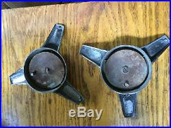 Vintage Cragar S/S Spinner Center Cap Pair Mag Wheel Chevy Camaro Pontiac