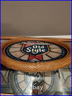 Vintage Heielemans Old Style Beer Pool Table Light Bar Sign Needs Tlc