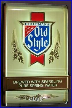 Vintage Heileman's Old Style Lighted Beer Sign