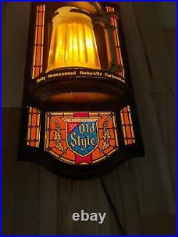 Vintage Heilemans Old Style Beer Bubbler Bar Sign Mug