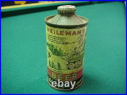Vintage Heilemans Old Style Lager Low Profile Flat Bottom Cone Top Beer Can, WI