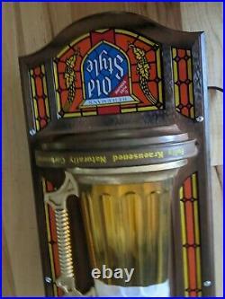 Vintage Heilemans Old Style Mug Beer Sign No Bubbler