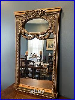 Vintage Look (NOT OLD) Bronze& Burnished Gold Antique Style Wall MirrorUnique
