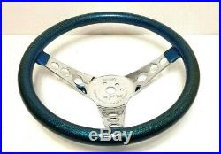Vintage Metal flake custom steering wheel Superior 500 Hot Rod Rat truck Gasser
