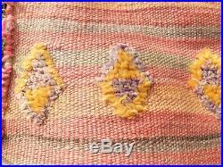 Vintage Moroccan Berber Rug -Old Style Kilim-Kilim Rug Flat Woven-7'10''/ 4'11'