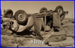 Vintage Nm Car Crash Four Killed Style Of Weegee Ks License Plate Old Photo