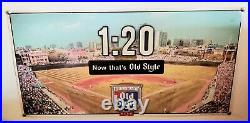 Vintage Old Style Beer Chicago Cubs 120 Start Time Metal Beer Sign Old School