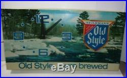 Vintage Old Style Beer Lighted Clock Sign Tavern Bar