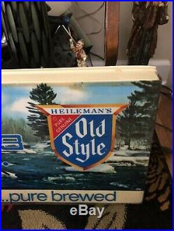 Vintage Old Style Beer Lighted Clock Sign Tavern Bar Free Shipping