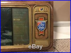 Vintage Old Style Beer Lighted Rolling Motion Water Bar Sign T. V. Heileman