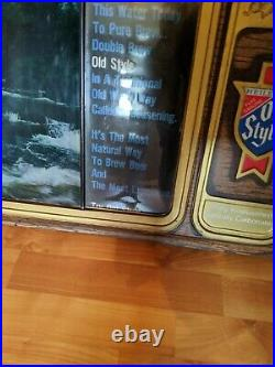 Vintage Old Style Beer Motion Sign TV Simulator Water Rare Bar Light
