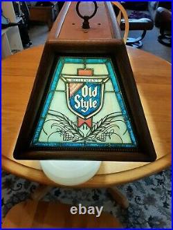 Vintage Old Style Beer Pool Poker Hanging Table Light