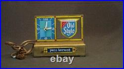 Vintage Old Style Beer Pure Brewed Mid Century Style Table Clock Logo Works