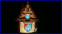 Vintage Old Style Beer Swiss Chalet Lighted Motion Rotating Sign Cottage