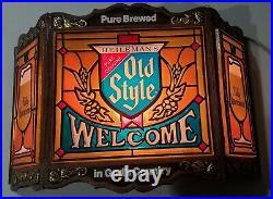 Vintage Old Style Cold Beer Lighted Bar Sign