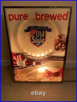 Vintage Old Style Motion Light Gambling Chicago Cubs Sox Baseball Beer Sign MLB