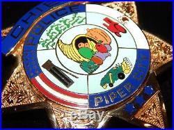 Vintage Old Style Piper City Illinois IL Chief Police Hallmarked Blackinton