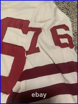 Vintage Old Wilson Sewn Worn 76 San Francisco 49ers Style Jersey SZ 44 Len Rohde