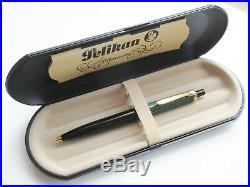 Vintage Pelikan Souveran K400 Ballpoint Pen Green Striped GT Old Style W. Germany