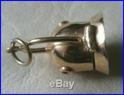 Vintage RARE 9ct Gold Old Style Divers Helmet & Real Pearl, Pendant / Charm